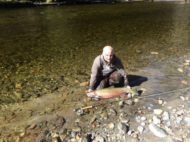 Bruce with steelhead
